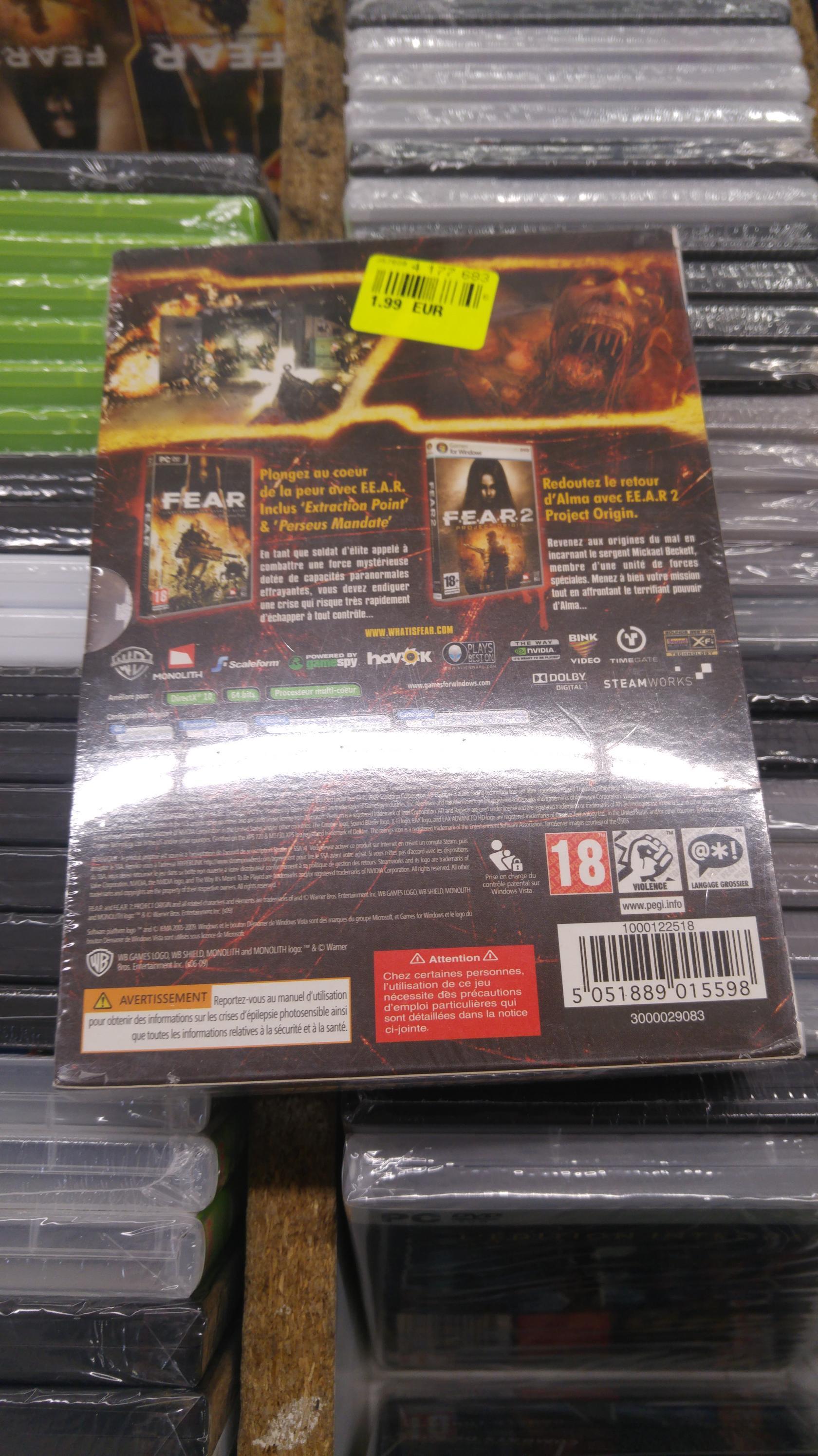 Fear 1 et 2 sur PC