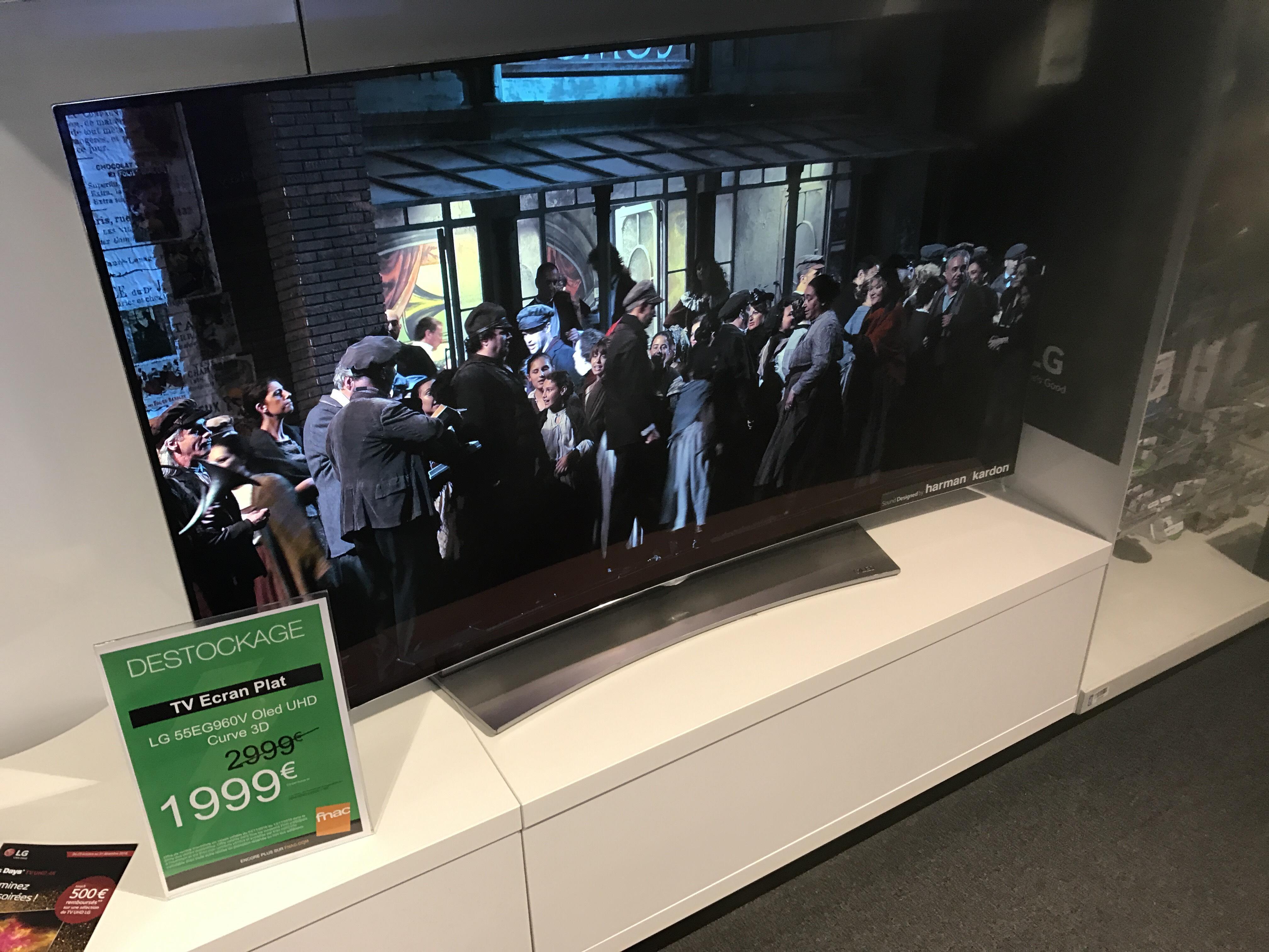 "TV 55"" LG 55EG960V - OLED, 4K, Incurvée, Smart TV"