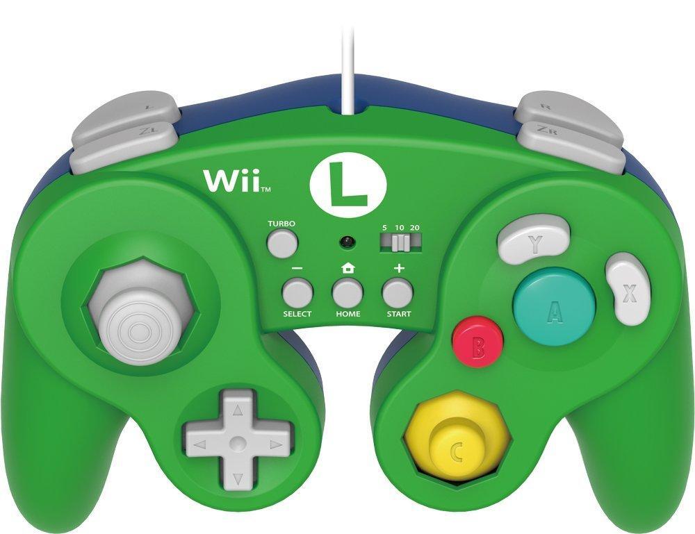 Manette filaire Hori Battle Turbo Luigi pour Wii U / NES Classic Mini