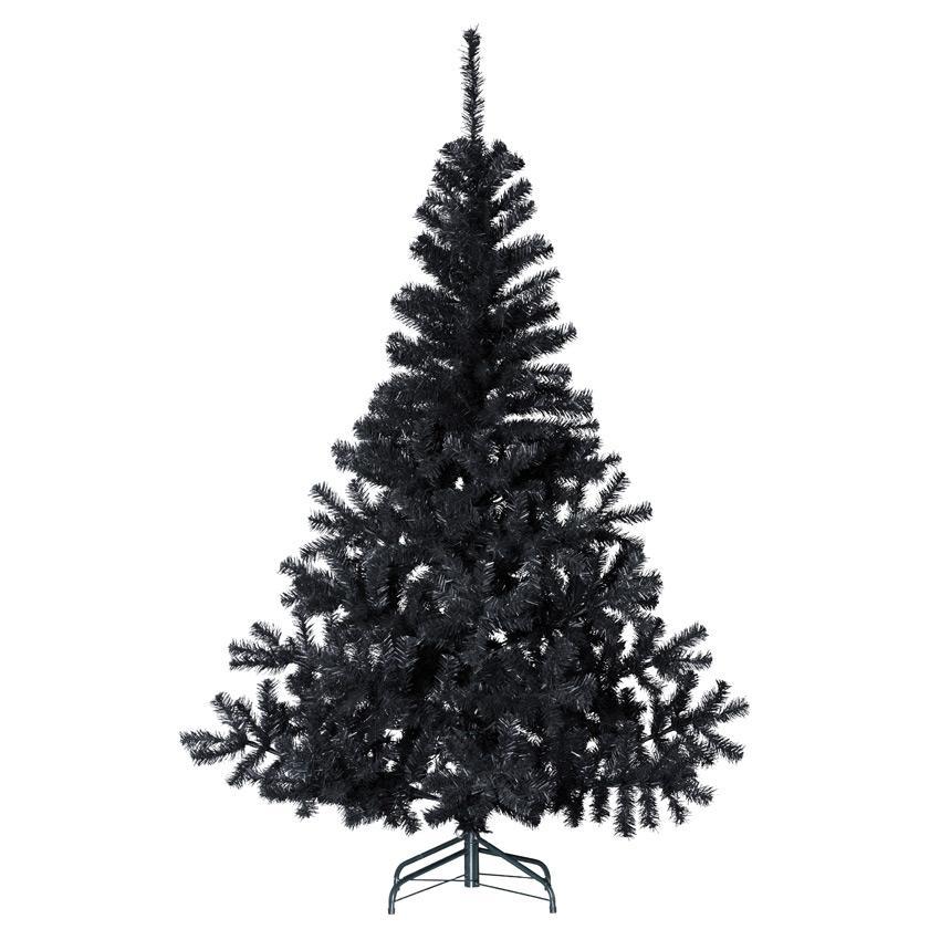 Sapin artificiel de Noël Elégant - 210 cm, Noir