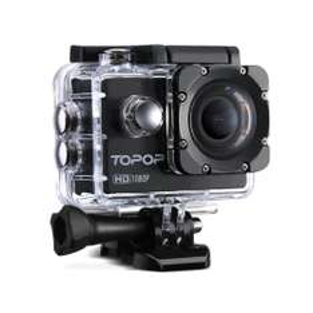 "Caméra sportive 2"" Topop - Full HD 30fps, 12MP + Accessoires"