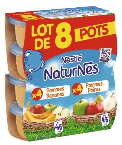 Sélection de produits en promotion - Ex : 24 Pots de compotes aux fruits Nestlé Naturnes 130g (via BDR)