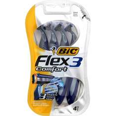 Pack de 4 rasoirs Bic  3 Sensitive ou Bic Flex 3 Comfort (via BDR + C-Wallet + Quoty)