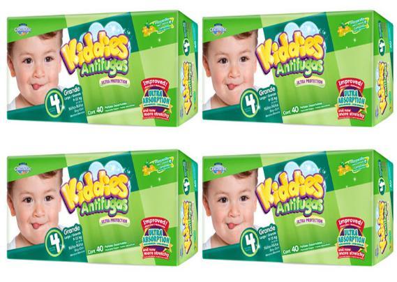 Sélection de couches en promotion - Ex : lot de 4 paquets de 40 couches Moltex Kiddies (taille 4)