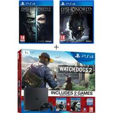 [Précommande] Pack Console Ps4 Slim - 1To + Watch Dogs (Dématérialisé) + Watch Dogs 2 + Dishonored Definitive Edition + Dishonored 2