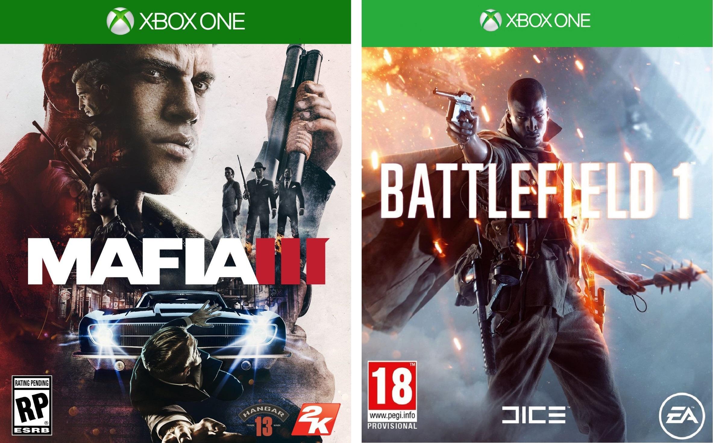 Sélection de Jeux en promo sur Xbox One et PS4 - Ex: Mafia III + Battlefield 1 (Via 20€ sur la carte de fidélité + 30€ en Bons d'achat)