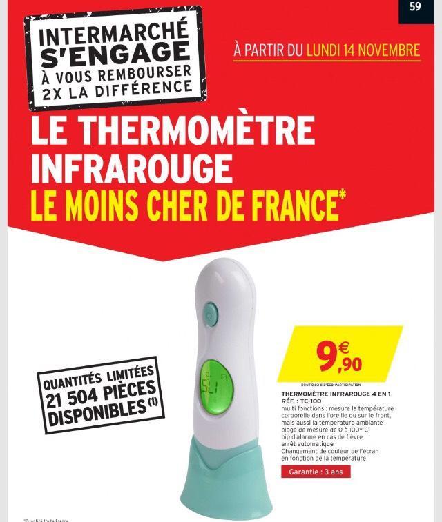 Thermomètre infrarouge 4 en 1