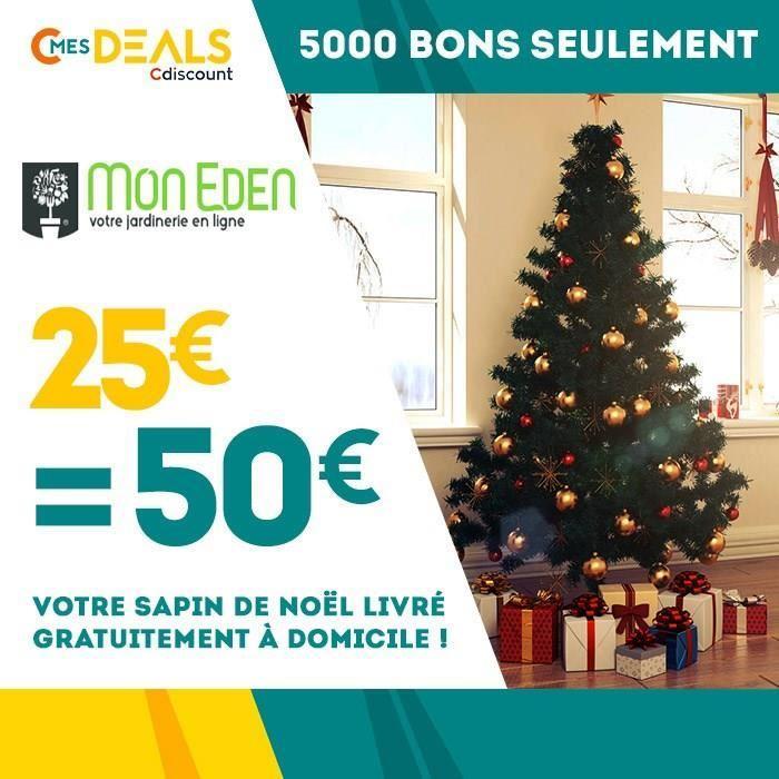 Bon de 50€ sur votre Sapin livré gratuitement à domicile sur MonEden.fr