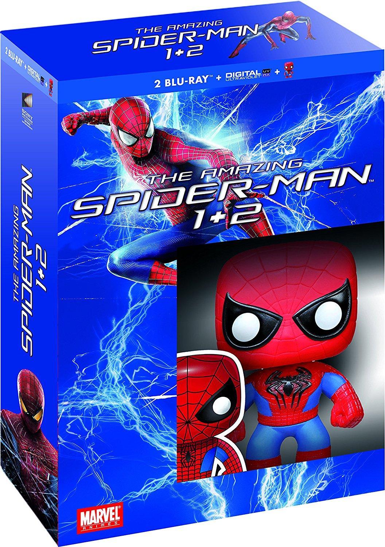 Coffret blu-ray : The Amazing Spider-Man + The Amazing Spider-Man : Le destin d'un héros + figurine Funko Pop