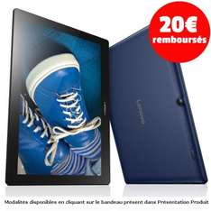 "[Cdiscount à volonté] Tablette 10"" Lenovo Tab2 A10-30 ZA0C0093SE - HD, RAM 2 Go, Android 5.1, Quad Core, 16 Go (via ODR 20€)"