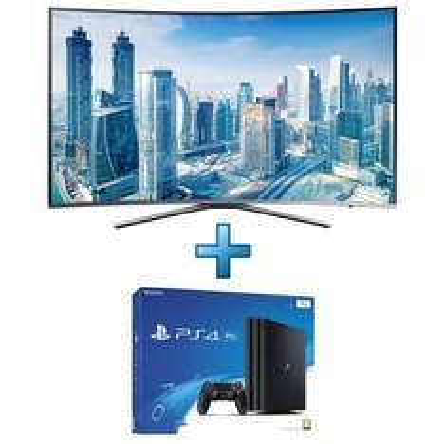 "TV 49"" Samsung UE49KU6500 - Incurvée + Console Sony PlayStation 4 Pro 1 To"