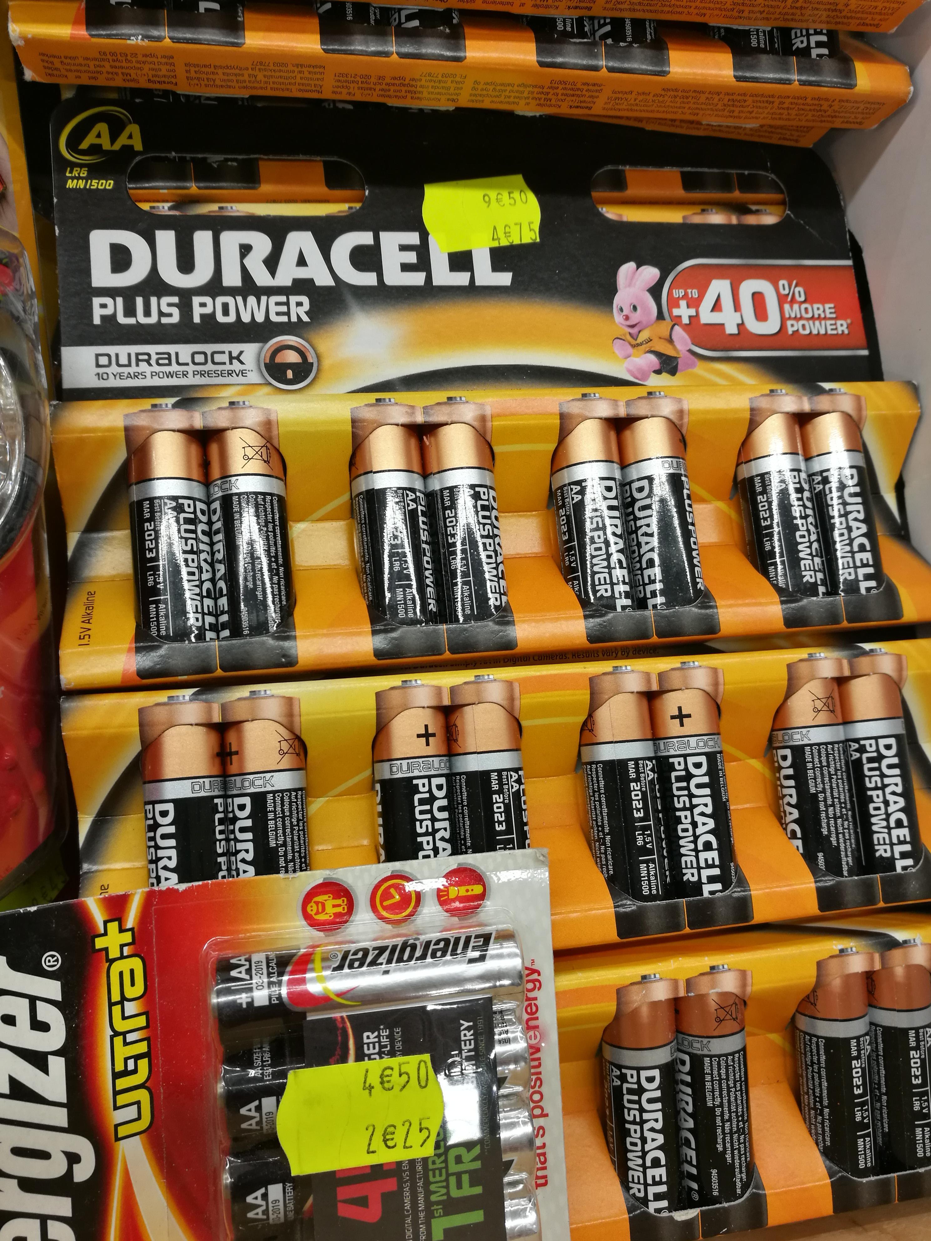 Pack de 8 Piles Duracell Plus Power