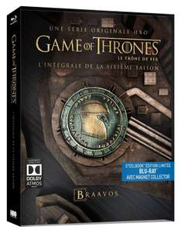 Coffret Blu-ray : Game of Thrones (Le Trône de Fer) - Saison 6 - Edition collector SteelBook + Magnet