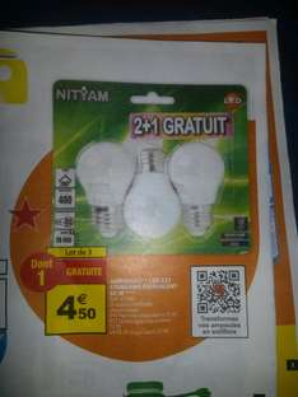 lot de 3 Ampoules led E27 Nityam - 3000k