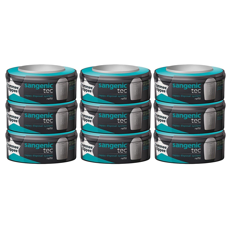 Lot de 9 recharges - Tommee teepee pour poubelle à couches