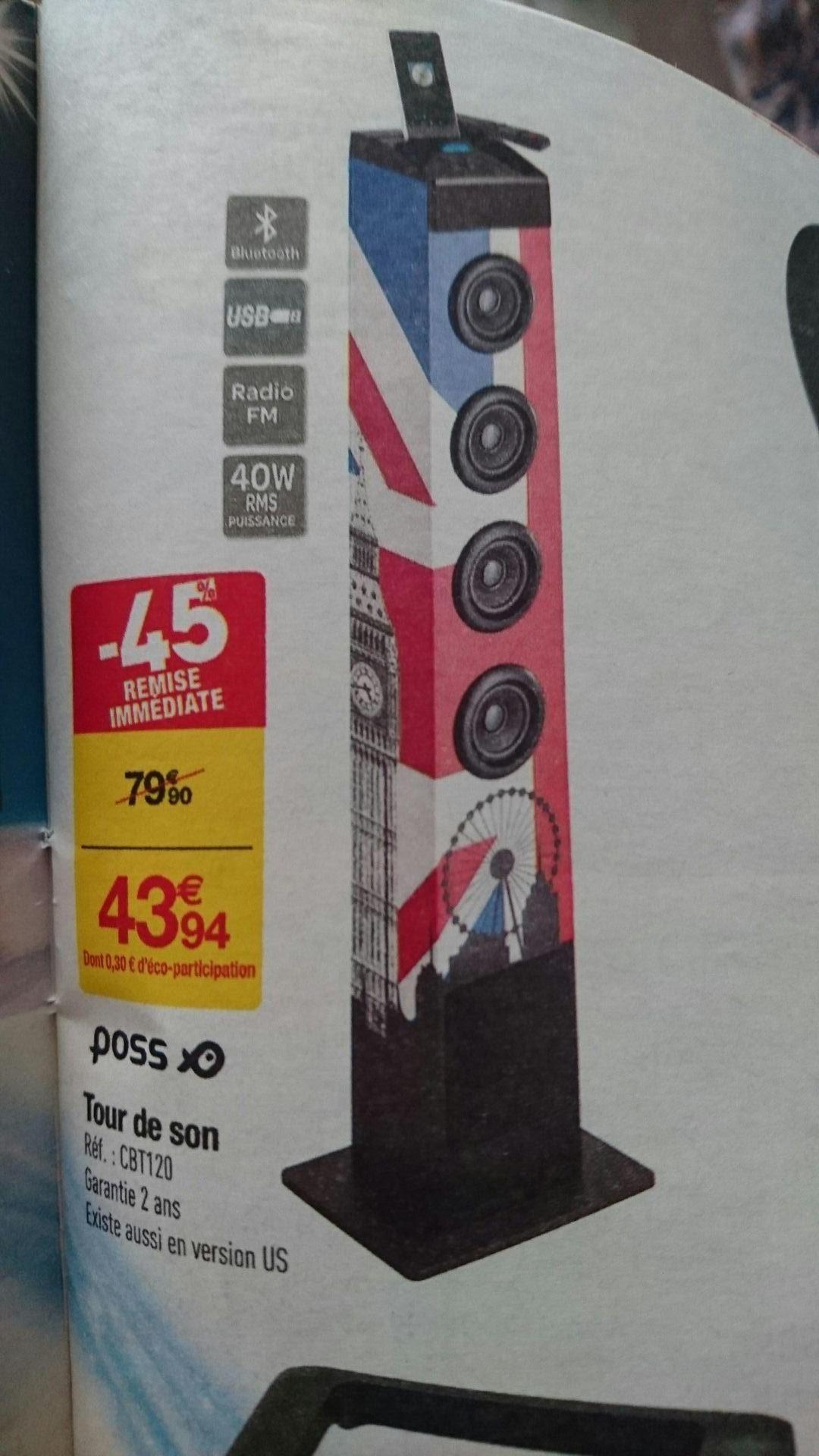 Tour de son Bluetooth Poss - 40 W