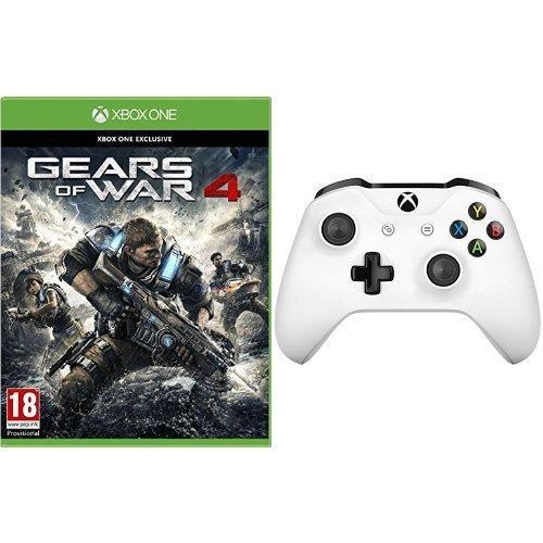 Gears of War 4 sur Xbox One + Manette Sans-fil Xbox One - Blanc