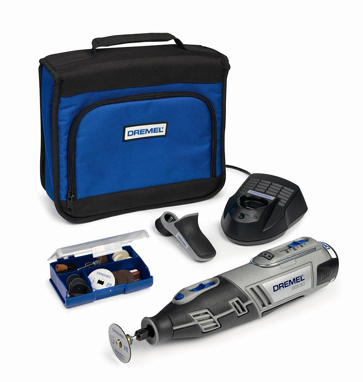 Outil rotatif multi-usage sans fil Li-Ion (10,8V) Dremel 8200-1/35 - 1 sac, 1 batterie et 35 accessoires