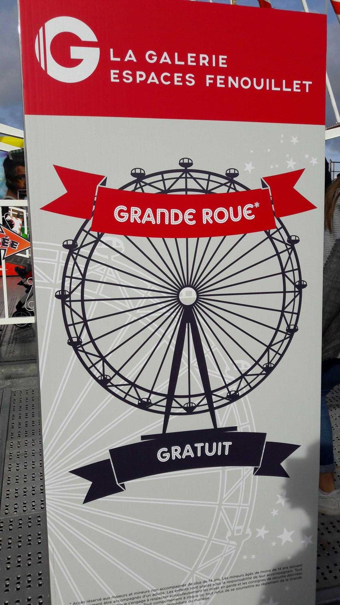 Grande roue gratuite