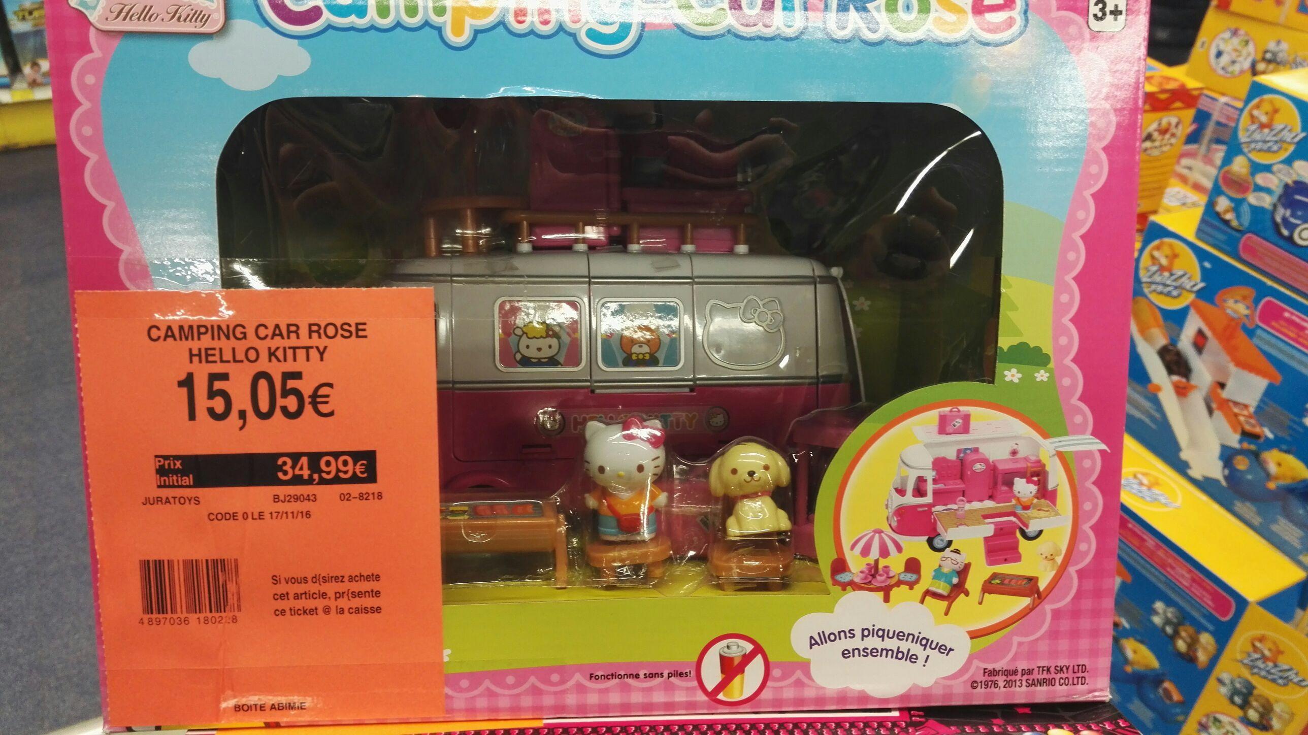 Déstockage sur une sélection de jouets - Ex: Camping Car Hello Kitty