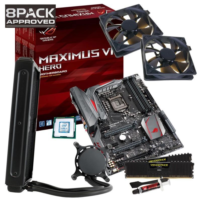Kit évolution : Processeur Intel i7-6700K + Asus Z170 Maximus VIII Hero + Kit mémoire RAM 2x8 Go au choix + OcUK Techlabs Extreme 240mm Hydro CPU Cooler