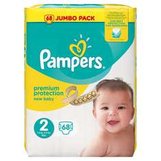 Pack de 68 couches Pampers New Baby Taille 2 (3-6kg/Mini)