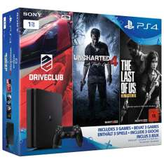 Pack console Sony PS4 Slim - 1To + Driveclub + Uncharted 4: A Thief's End + The Last of Us Remastered