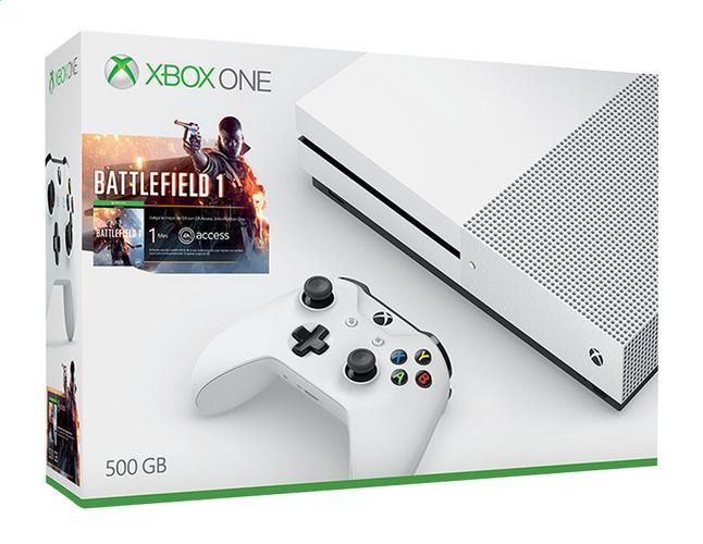 Console Microsoft Xbox One S 500 go + Battlefield 1