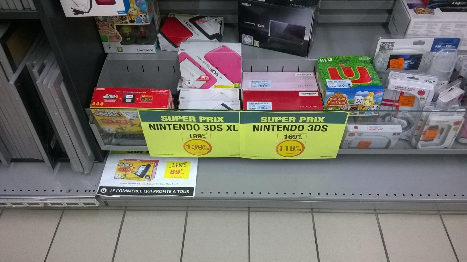 Console Nintendo 3DS XL (Plusieurs couleurs)