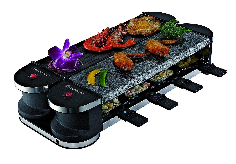 Appareil à Raclette Suntec Wellness Flex 8 - Noir, 1400 W