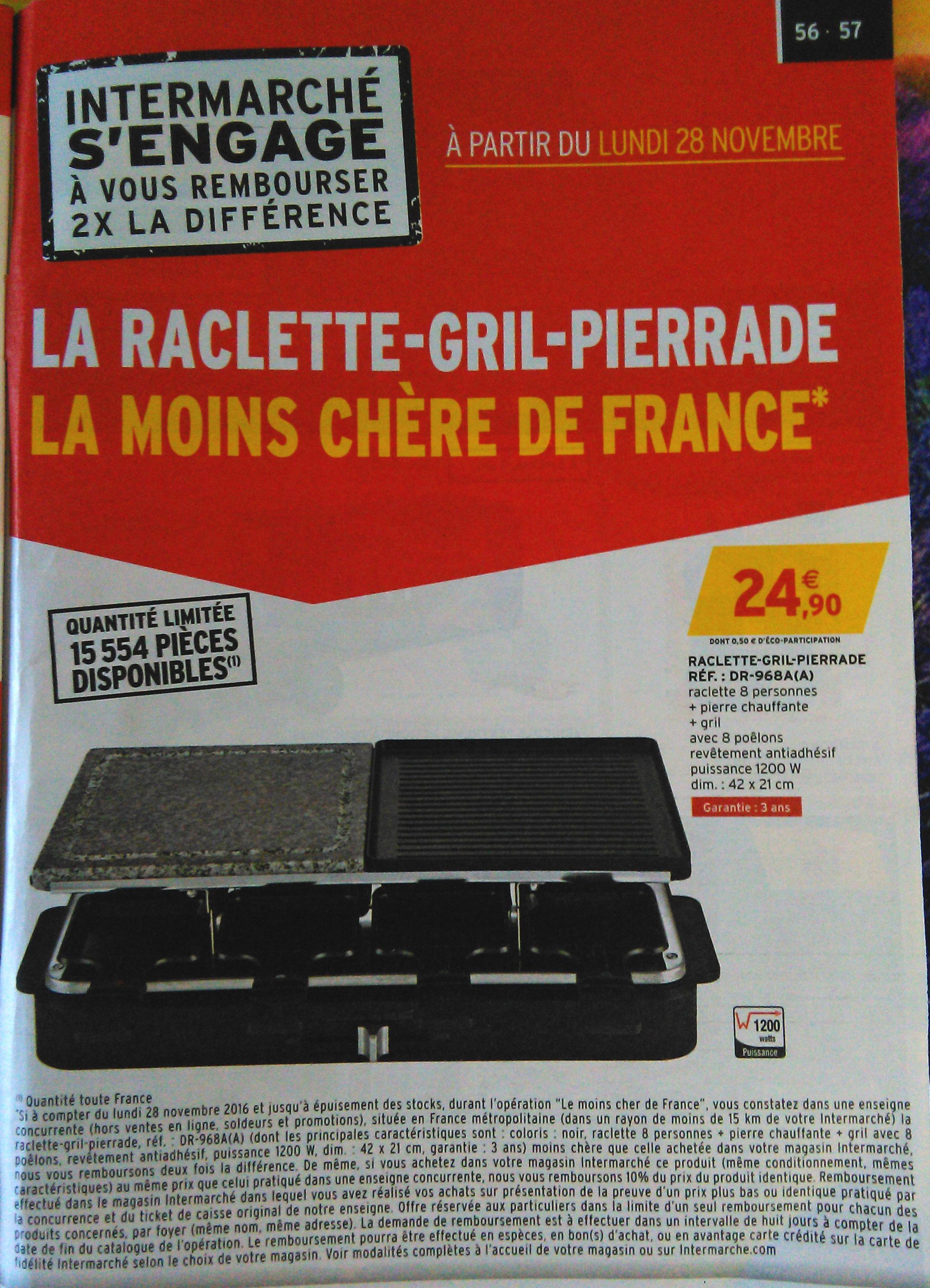 Appareil à raclette + pierre chauffante + gril DR-968A pour 8 personnes