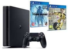 Pack Console PS4 Slim 500Go + Fifa 17 + Rise of the Tomb Raider