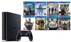 [Précommande] Console PS4 500 Go Slim + 8 jeux (Final Fantasy XV, Far Cry Primal, The Witcher 3...)