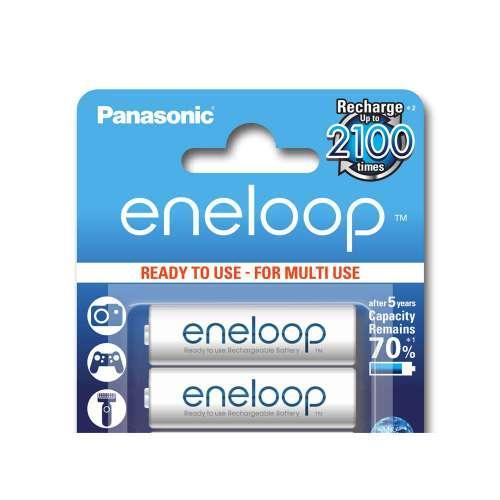 2 batteries Rechargeable Panasonic Eneloop AA LR6 Ni-Mh 1900mAh
