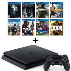 Pack Console PS4 Slim 500 Go + Dishonored 2 + Dishonored Definitive Ed.(DLC) + Destiny Collection + Watch Dogs 2 + Doom + Call of Duty: Infinite Warfare + Mafia III + PES 2017