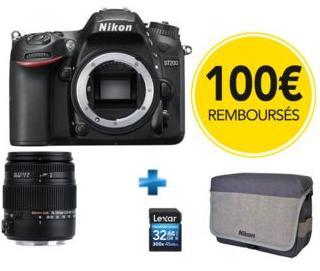 Reflex Nikon D7200 + Objectif Sigma 18-250mm + Carte 32 Go + Sacoche (Avec ODR de 100€)
