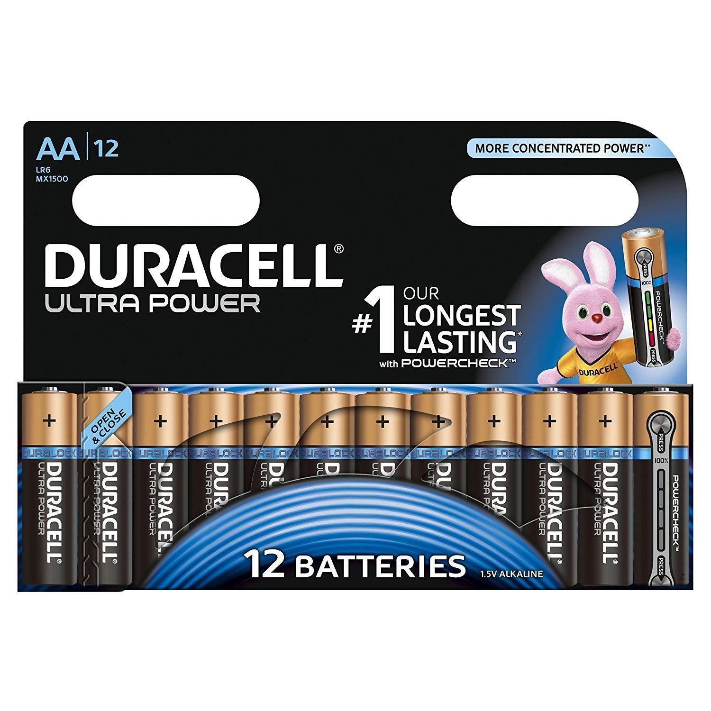 Pack de 12 Piles Duracell Alcaline Ultra Power - AA