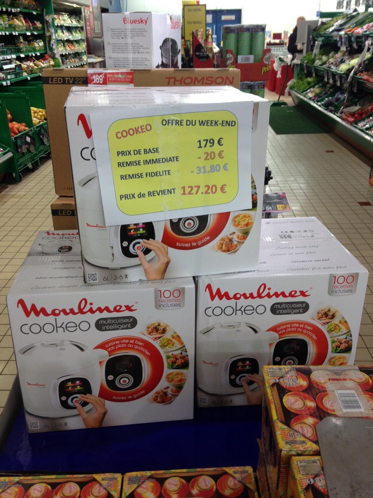 Multicuiseur Intelligent Moulinex Cookeo 100 recettes (avec 31.2€ sur la carte de fidélité)