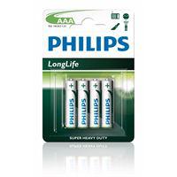 Pack de 4 piles Philips PowerLife AA/AAA
