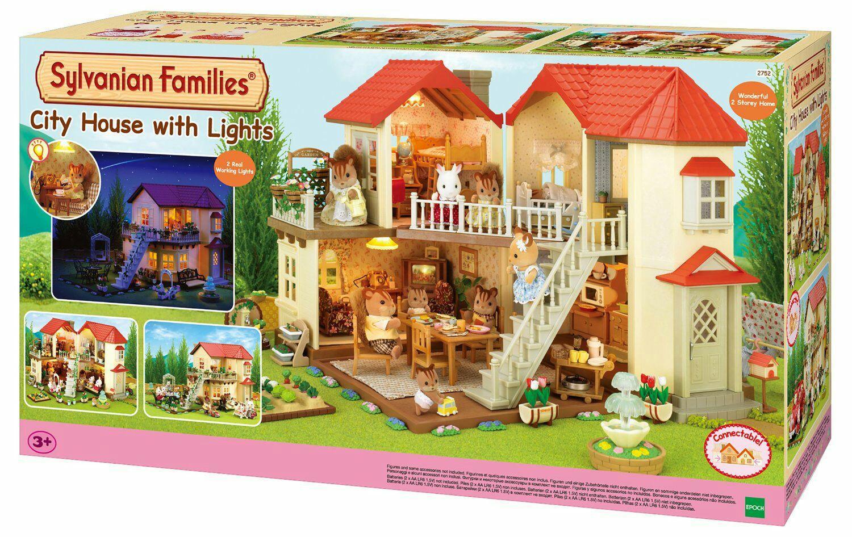 Grande maison de poupée éclairée Sylvanian Families 2752 - Beige