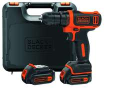 Coffret visseuse sans fil Black+Decker BDCDD12KB-QW - 10.8 V, avec 2 batteries 1.5 Ah