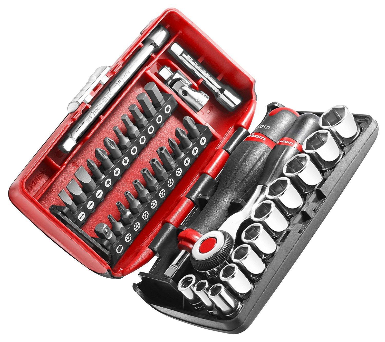 """Coffret Compact de serrage Facom R360NANO.PG 1/4"""" avec set de vissage 38 outils"""