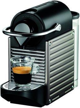 Cafetière à capsules Krups Nespresso Pixie (titane) + lot de 100 capsules de café