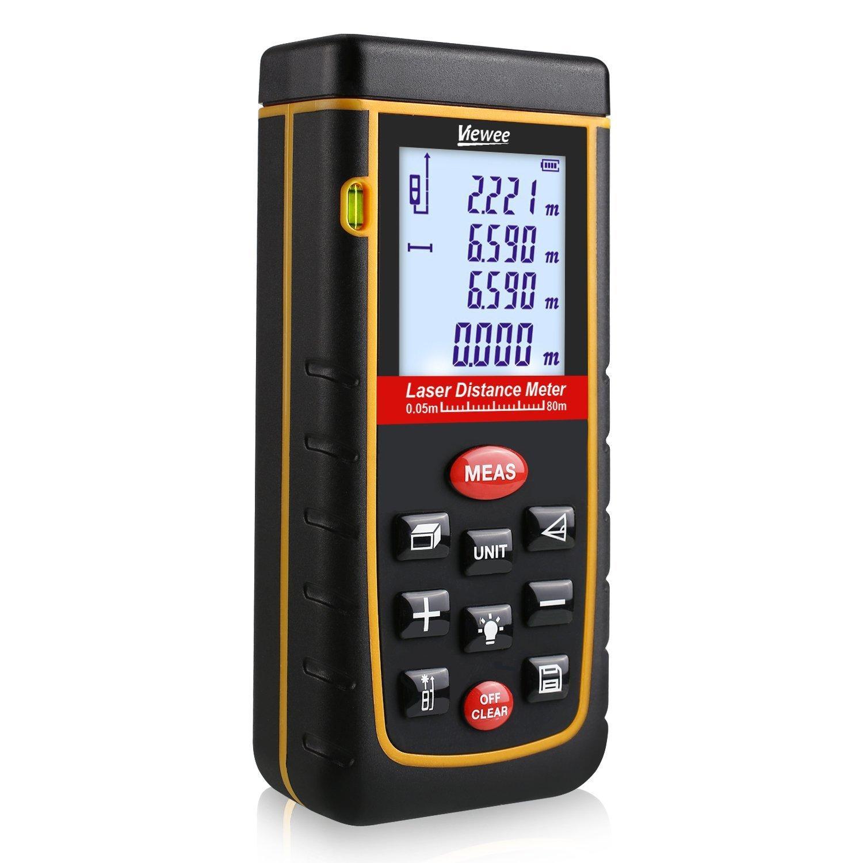 Télémètre laser numérique Jetery (avec écran LCD et sac de protection)