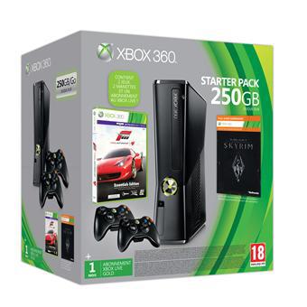 Xbox 360 250 Go + Skyrim + Forza 4 + 2 manettes sans fil
