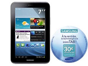 Tablette Samsung Galaxy Tab 2  7''  8Go  (Avec ODR de 30€)