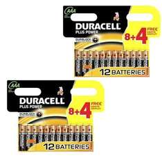 Lot de 24 piles Duracell Plus Power AAA LR03 MN2400