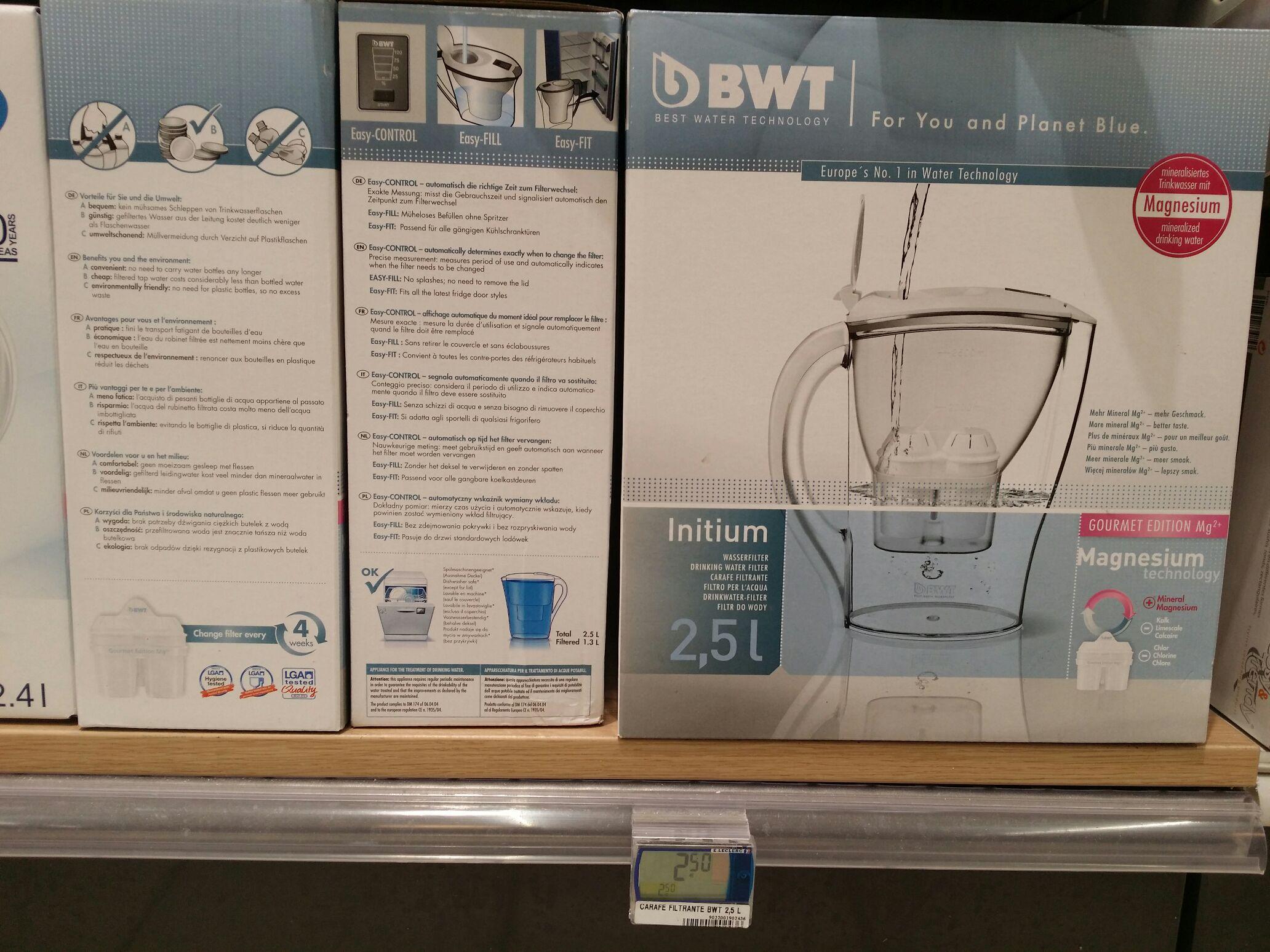 Carafe Filtrante BWT 2,5L