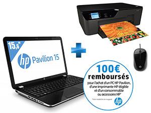 PC Portable 15,6'' i5 windows 8 + Imprimante Multifonction HP Deskjet 3522 + Souris filaire X 1000 Brasilia (avec ODR 100€)