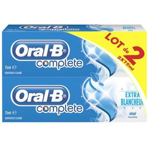 Lot de 2 dentifrice ORAL-B complete
